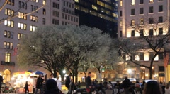 Plaza Hotel pan to Central Park South Stock Footage