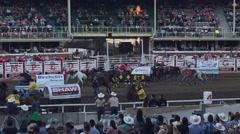 Chuck wagon race Stock Footage
