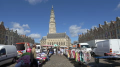 Market day - Arras France Stock Footage