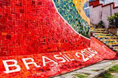 Escadaria Selaron in Rio de Janeiro Stock Photos
