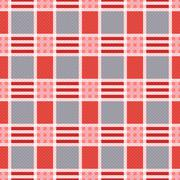Rectangular seamless pattern in pink an gray trendy hues - stock illustration