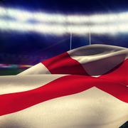 Composite image of waving flag of england - stock photo