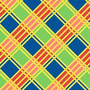 Diagonal seamless pattern in motley colors Stock Illustration