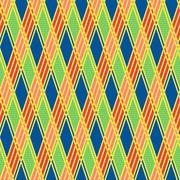 Rhombic seamless pattern in motley colors - stock illustration