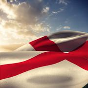 Stock Photo of Composite image of waving flag of england