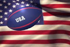 Stock Photo of Composite image of usa rugby ball