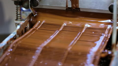 Making chocolate trufflea at the small chocolate store. Stock Footage