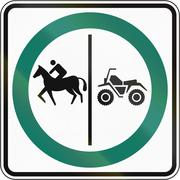 Stock Illustration of Equestrian And ATV Lane in Canada