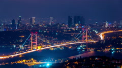 Istanbul - Bosphorus bridge - stock footage