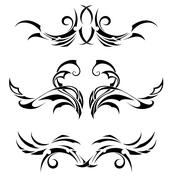 Set Tribal Tattoos Stock Illustration