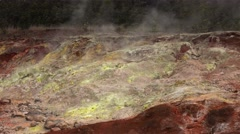 Steam Rising From Vents in Hawaii Volcanoes National Park Stock Footage