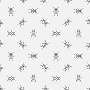 Ants seamless pattern Stock Illustration