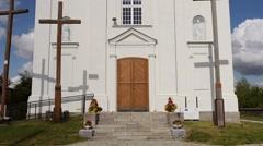 St. Sigismund of Burgundy Church in Kleszczele Stock Footage