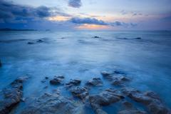 Seascape of pattaya beach at sunset, Chonburi, Thailand - stock photo