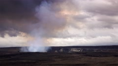 Halemaumau Crater in Volcanoes National Park, Hawaii Big Island Stock Footage
