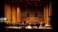 The final concert in the Philharmonic and a standing ovation and applause Stock Footage