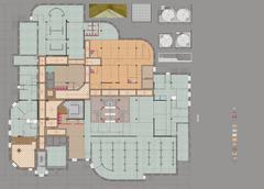 Plan Drawing Public Building - stock illustration