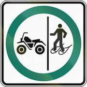 Snowshoe And ATV Lane in Canada - stock illustration