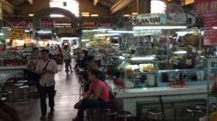 Ben Thanh market interrior Stock Footage