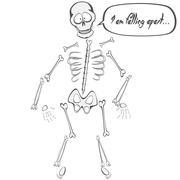Skeleton Buddy - stock illustration