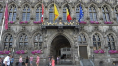 Hotel de Ville - City Hall - Mons Belgium Stock Footage