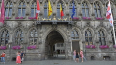 Hotel de Ville - City Hall - Mons Belgium - stock footage