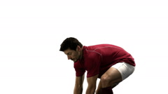 Stock Video Footage of Serious rugby player playing in slow motion