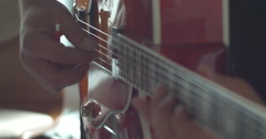 Song writer and guitar player Stock Footage