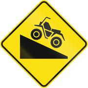 Steep Grade For ATVs in Canada Stock Illustration