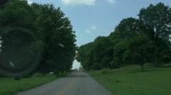Speedy hyperlapse through Tenneseee countryside Stock Footage