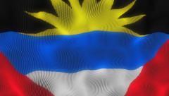 Waving Flag Antigua and Barbuda Stock Footage