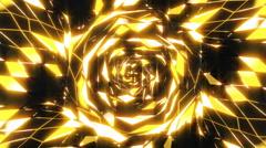 VJ Gold Neon Lights - stock footage