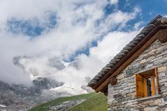 Mountain cabin. Stock Photos