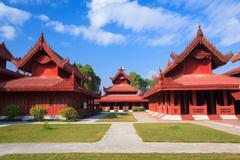 Mandalay palace, Mandalay, Myanmar - stock photo