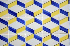 Lisbon tiles abstract Stock Photos