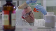 Man Working As Science Researcher People Staff Health Care Hospital Stock Footage