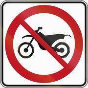 No Dirt Bikes in Canada - stock illustration
