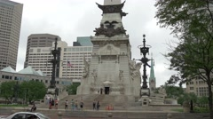 Soldiers' and Sailors' Monument Indianapolis closer Stock Footage