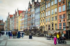 architecture  of Gdansk - stock photo