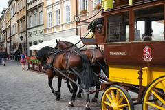 carriage on Warsaw street - stock photo