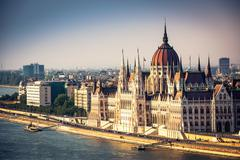 Stock Photo of view on Parliament in Budapest