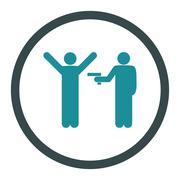 Crime icon - stock illustration