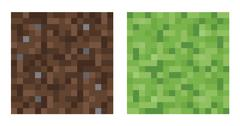 Texture for platformers pixel art vector - mud and bush - stock illustration