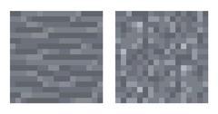 Texture for platformers pixel art vector - stone and gravel - stock illustration