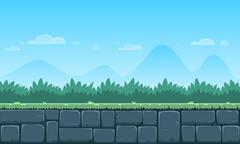 Cartoon Game Background Stock Illustration