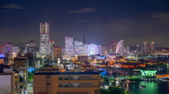 Yokohama, Japan skyline time lapse - stock footage