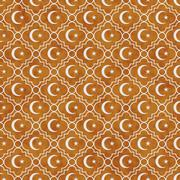 Orange and White Star and Crescent Symbol Tile Pattern Repeat Background Stock Illustration