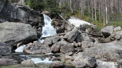 Waterfalls in High Tatras mountains Stock Footage