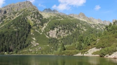 Poprad lake (Popradske pleso) in High Tatras mountains, Slovakia Stock Footage