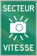 SPECS Speed Camera In Canada Stock Illustration
